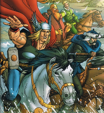 File:Volstagg and the Warriors Three.JPG