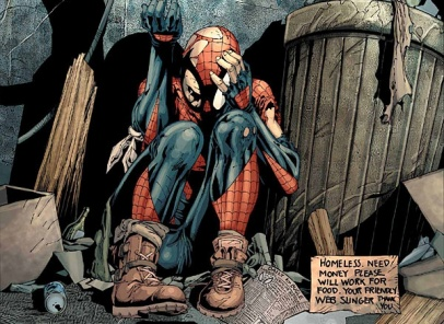 M Spiderman Peter Parker was orphaned at
