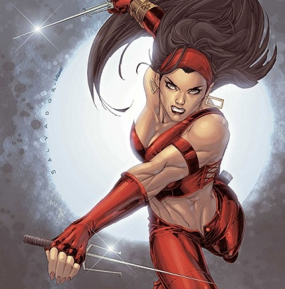 Elektra Natchios began Elektra Marvel