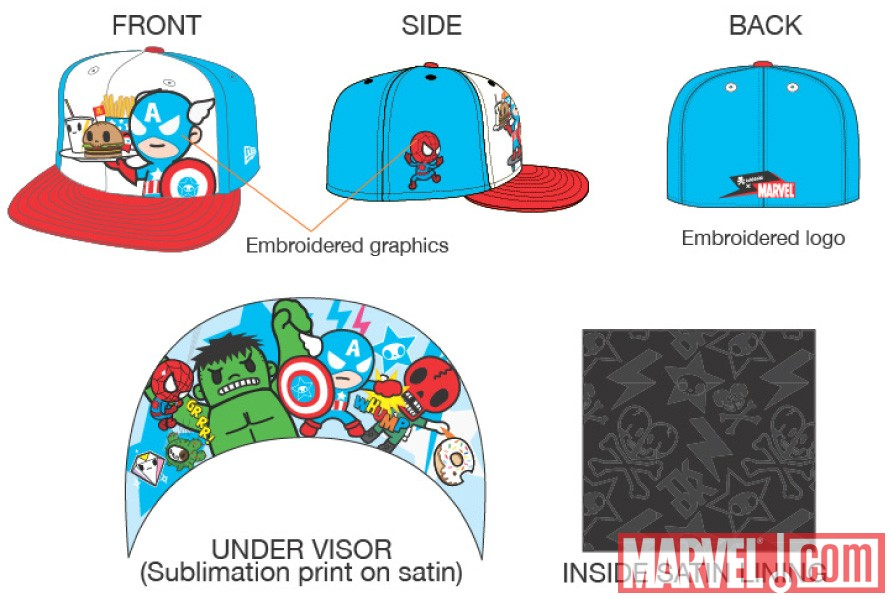Captain America New Era 59 Fifty Hat by tokidoki