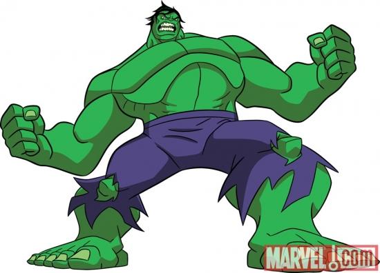 Conceito visual do Hulk para o novo desenho dos Vingadores ...