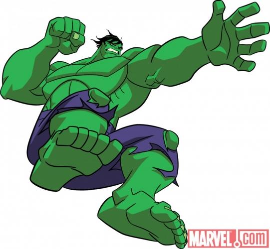 conceito visual do hulk para o novo desenho dos vingadores