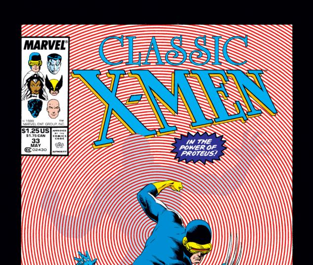 Classic X-Men (1986) #33 Cover