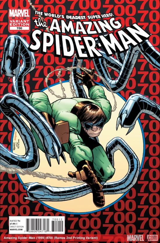 cover from The Amazing Spider-Man (1999) #700 (2ND PRINTING VARIANT)
