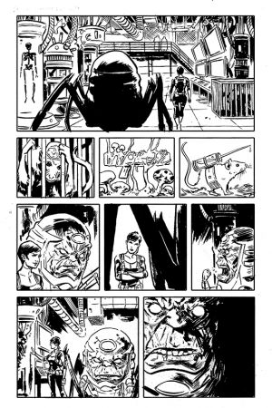 Secret Avengers (2014) #1 preview inks by Michael Walsh