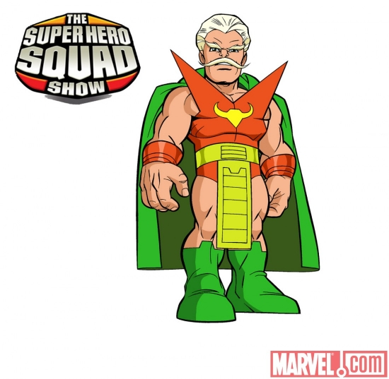 Final color art for the Stranger from 'The Super Hero Squad Show' Season 2