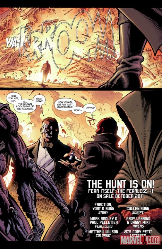 Fear Itself: The Fearless #1 preview art by Mark Bagley &amp; Paul Pelletier