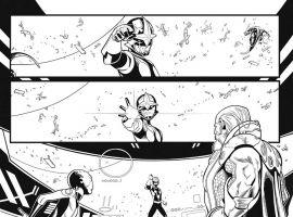 Nova (2013) #10 preview inks by Paco Medina