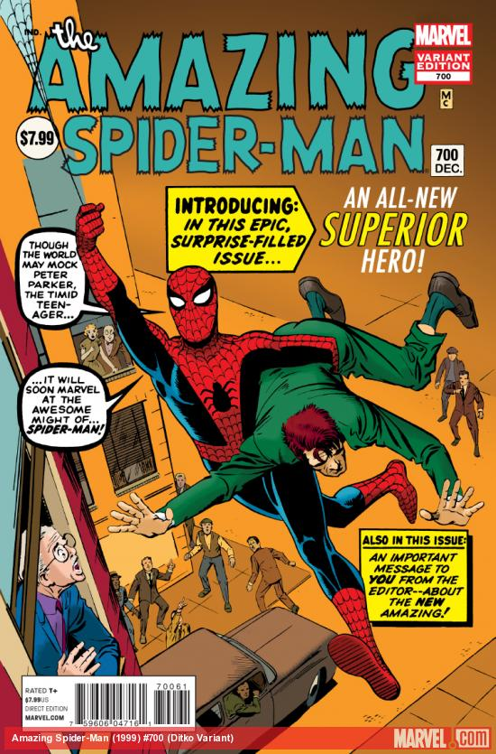 cover from The Amazing Spider-Man (1999) #700 (DITKO VARIANT)