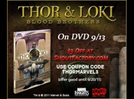Thor & Loki: Blood Brothers DVD Coupon