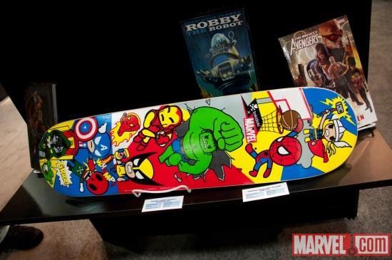 Marvel Skateboard from Tokidoki and Diamond Select Toys at Toy Fair 2011