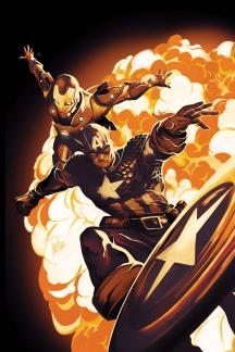 Invincible Iron Man (2008) #502 (CAPTAIN AMERICA 70TH ANNIVERSARY VARIANT)