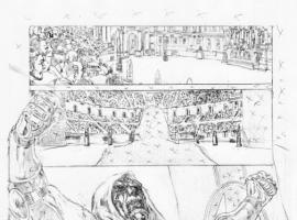 Fearless Defenders #4AU preview pencils by Phil Jimenez