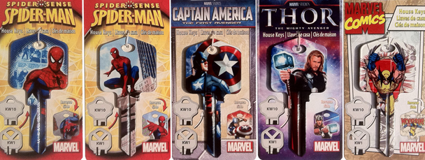 Marvel Swag: Marvel-Branded House Keys