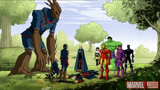 The Guardians of the Galaxy make their debut in The Avengers: Earth's Mightiest Heroes!