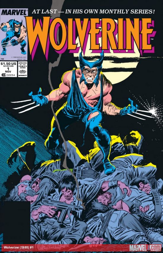 wolverine four series comic book cover