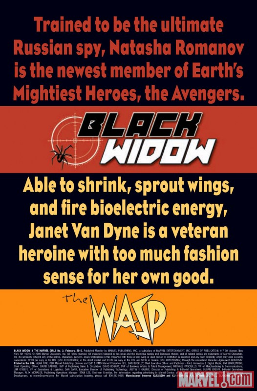 BLACK WIDOW & THE MARVEL GIRLS (2009) #2
