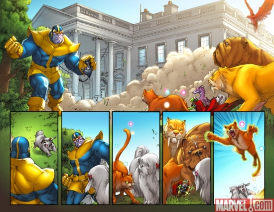 LOCKJAW AND THE PET AVENGERS #4 Interior Art