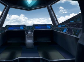 Blackbird cockpit from the X-Men anime