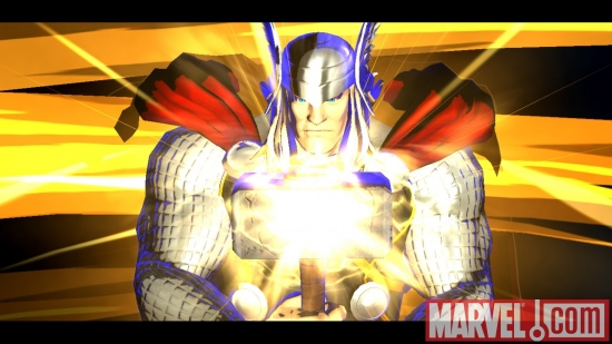 Screenshot of Thor from ''Marvel vs. Capcom 3''