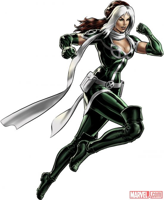 Rogue (alternate costume) character model from Marvel: Avengers Alliance