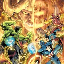 AVENGERS/DEFENDERS WAR TPB COVER
