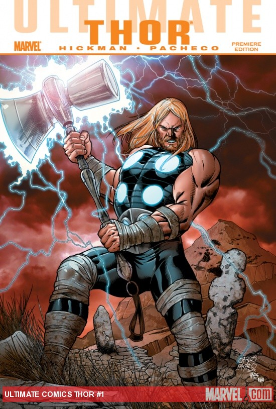 ULTIMATE COMICS THOR PREMIERE HC cover by Carlos Pacheco