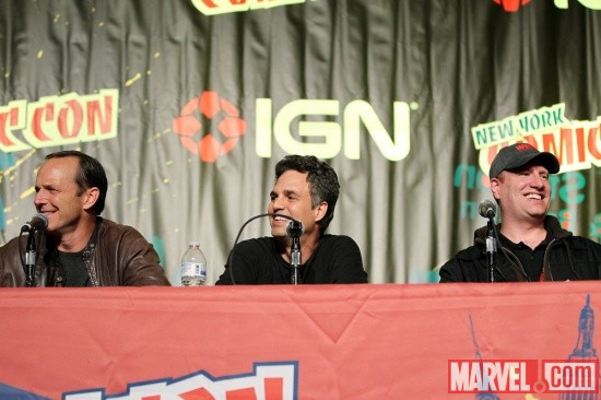 New York Comic Con 2011: Clark Gregg, Mark Ruffalo & Kevin Feige at the Marvel's The Avengers panel