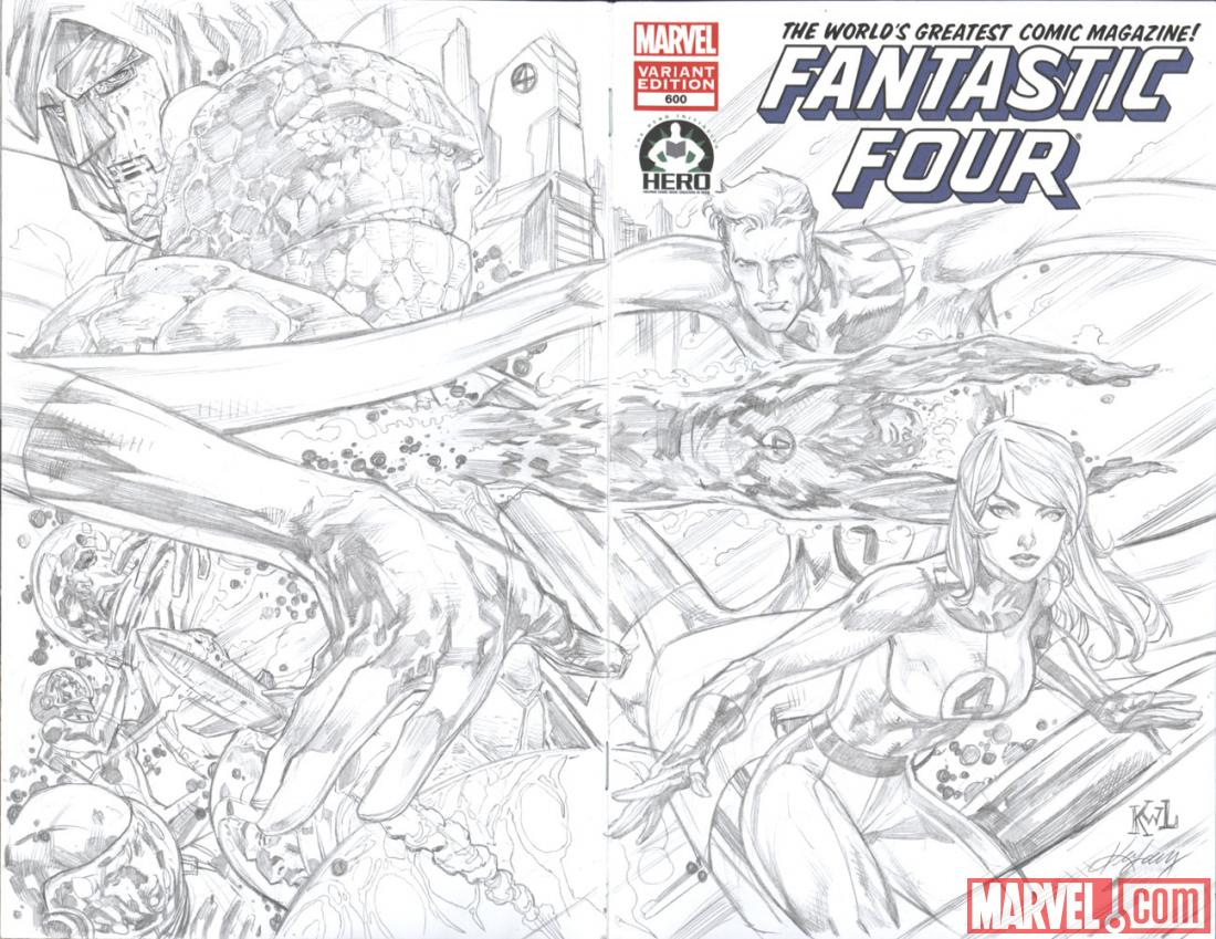Fantastic Four #600 Hero Initiative variant cover by Ken Lashley