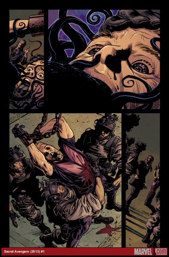 Secret Avengers (2013) #1 preview art by Luke Ross