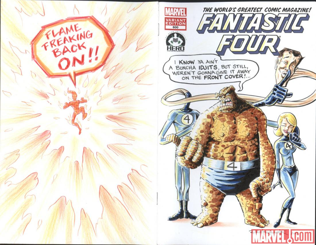 Fantastic Four #600 Hero Initiative variant cover by Rich Koslowski