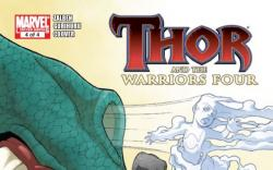 THOR AND THE WARRIORS FOUR #4 cover by Gurihiru