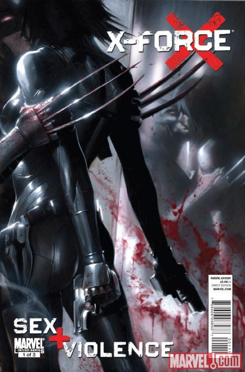 X-FORCE: SEX AND VIOLENCE #1 cover by Gabriele Dell'Otto