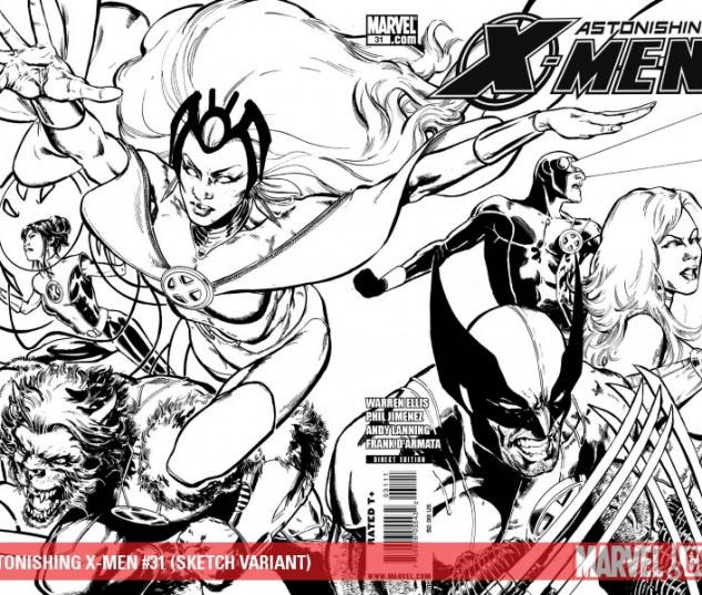 ASTONISHING X-MEN #31 (SKETCH VARIANT)