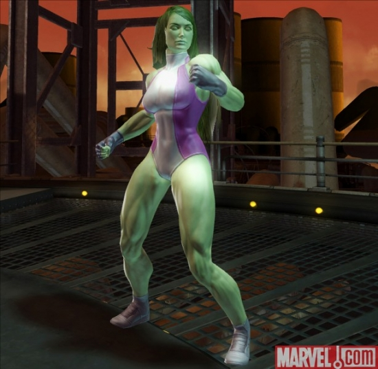 "She-Hulk in ""Marvel Ultimate Alliance 2"""