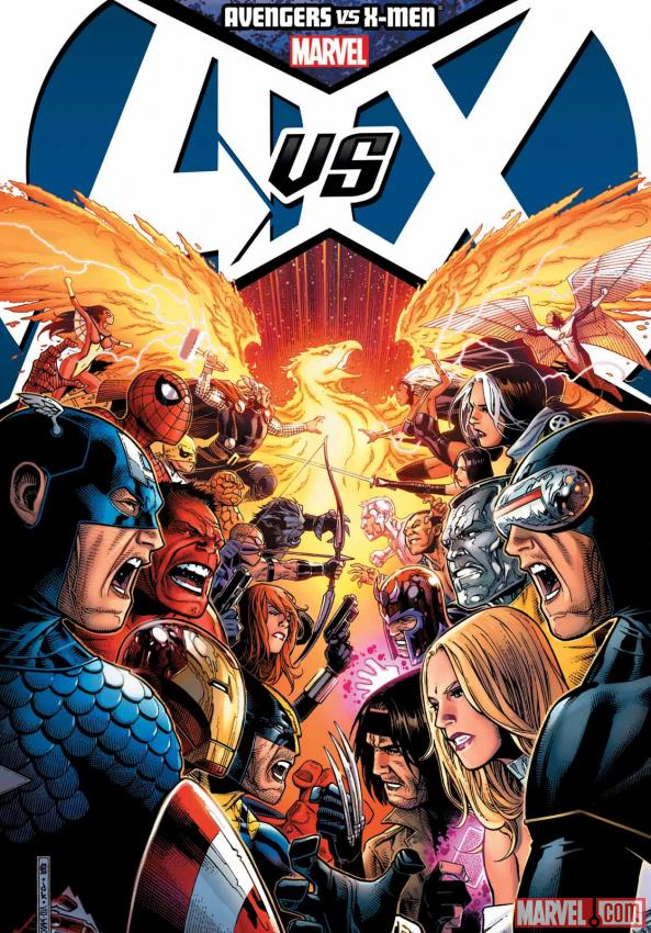 Avengers Vs. X-Men hardcover Jim Cheung cover
