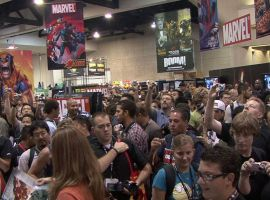 The Marvel booth