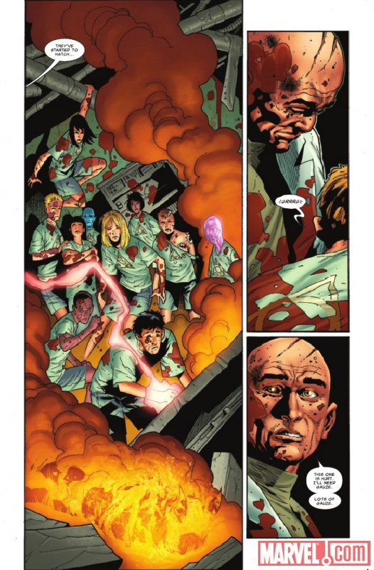 NEW MUTANTS #18 preview page by Leonard Kirk