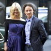 James McAvoy (Charles Xavier) and January Jones (Emma Frost) at the 'X-Men: First Class' red carpet event in NYC
