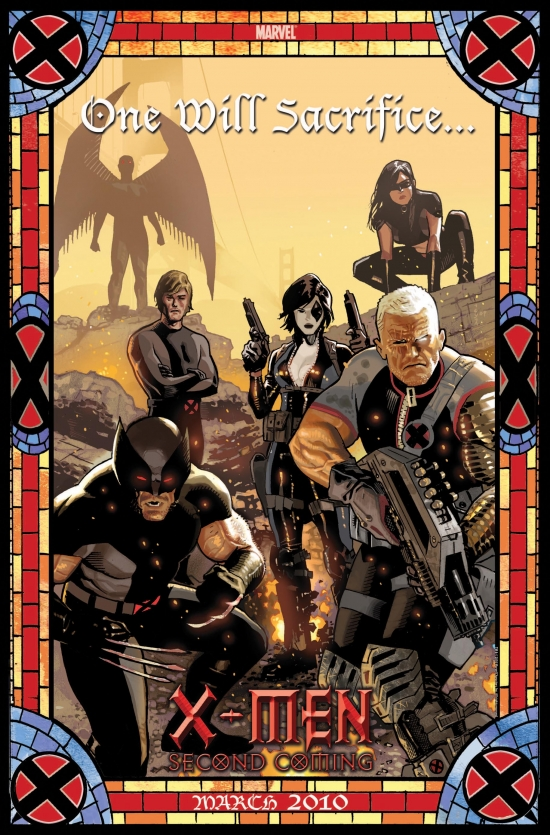 Image Featuring Archangel, Cable, Domino, Wolverine, X-23