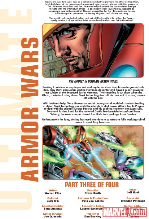 ULTIMATE COMICS ARMOR WARS #3