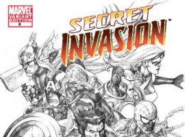 SECRET INVASION #8 Yu Sketch Variant Cover