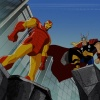 Screenshot of Iron Man and Thor from The Avengers: Earth's Mightiest Heroes!