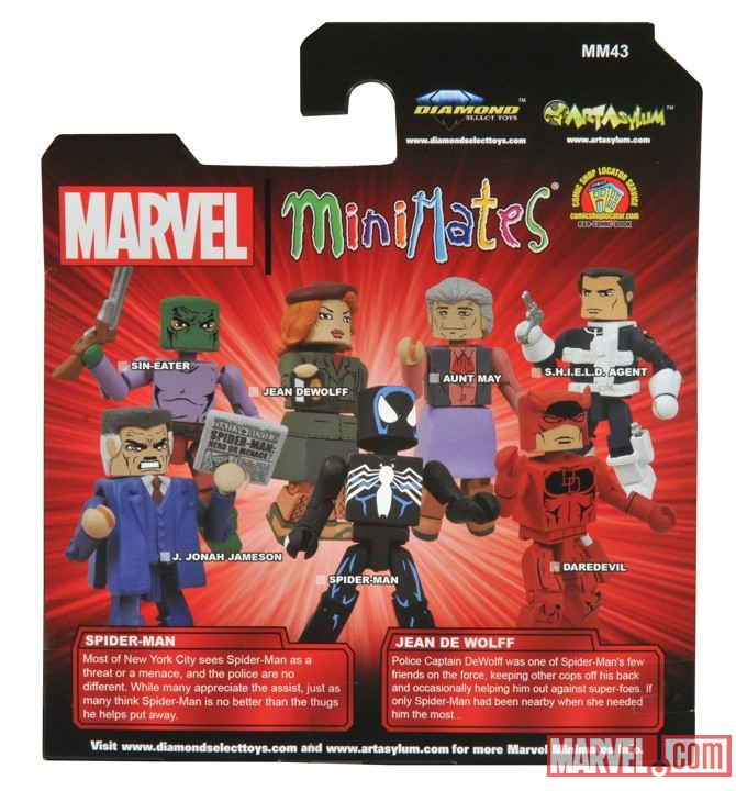 Spider-Man and Jean DeWolff Minimates back from The Jean DeWolff Saga