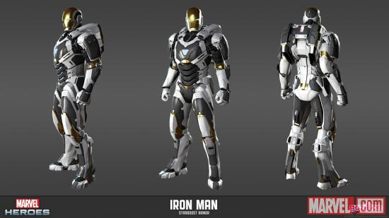 Iron Man Mark 39 Starboost armor model sheet from Marvel Heroes