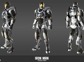 Iron Man Mark 39 Starboost armor model sheet from Marvel Heroes