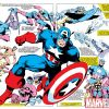 Image Featuring Sub-Mariner, Spitfire, Human Torch (Jim Hammond), Union Jack (Montgomery Falsworth), Invaders, Avengers, Hank Pym, Captain America, Iron Man, Red Skull, Thor