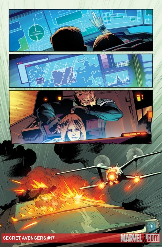 Secret Avengers #17 preview art by Kev Walker