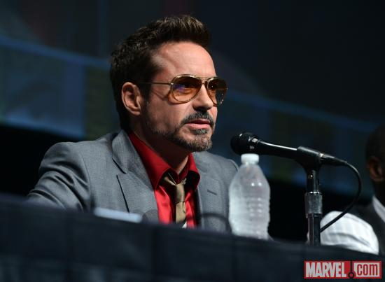 Robert Downey, Jr. at Marvel Studios' Hall H presentation at SDCC 2012