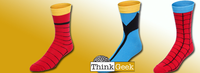 Pick Up Super Hero Socks From ThinkGeek